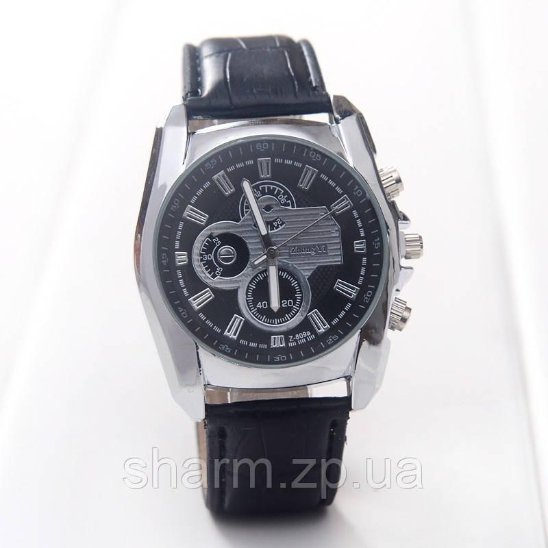 b3df0d39268c Мужские часы на кожаном ремешке черные mw140-2 купить в Киеве ...