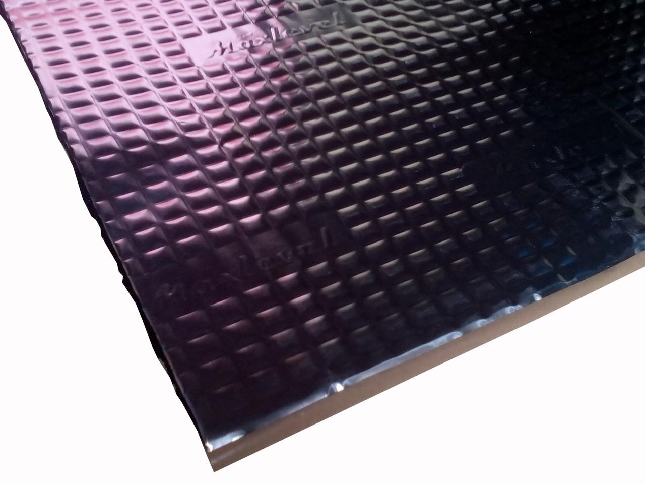 Виброизоляция MaxLevel V1, лист 70см х 50см, толщина - 1.5мм.
