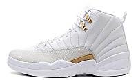 Женские кроссовки Nike Air Jordan AJ 12 Cream Gold