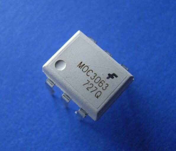 MOC3063TVM, Оптопара, переход через нуль, DIP, 6 вывод(-ов), 7.5 кВ, Пересекающий Ноль, 600 В