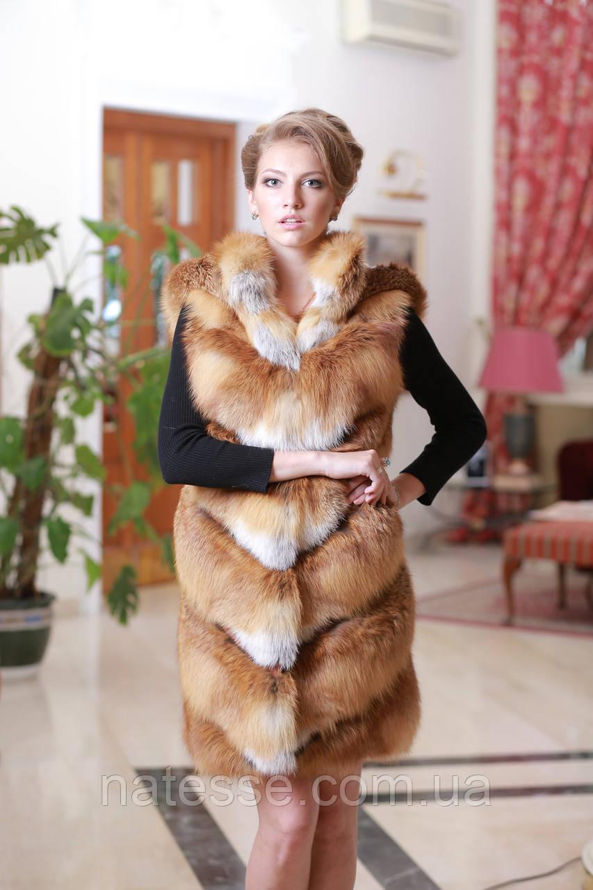 Жилет з лисиці Fox fur vest