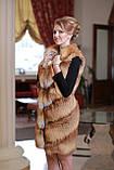 Жилет з лисиці Fox fur vest, фото 2