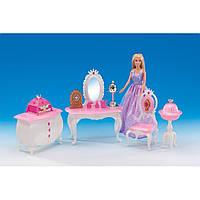 Набор мебели Gloria, мебель для куклы, кукольная мебель, мебель комната принцессы