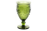 "Цветные стеклянные бокалы ""Royal"",зеленые, набор 6 шт"
