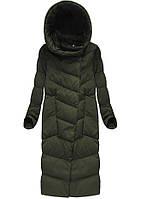 Пальто зимнее женское на натуральном пуху