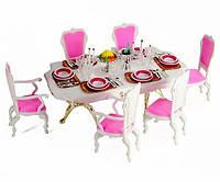 Набор мебели Gloria, столовая для куклы,столовая 48 предметов, мебель для куклы, кукольная мебель