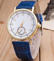 Часы Женева Geneva Питон синий ремешок