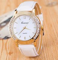 Часы Женева Geneva Полукруг белый ремешок