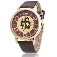 Женские часы Кружево Металл темно-коричневые