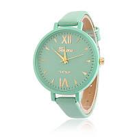Часы наручные женские Geneva тонкий ремешок мята