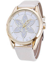 Женские кварцевые часы Кувшинка белые 060-1