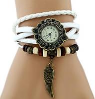 Часы-браслет с подвеской Крыло белые