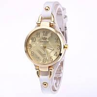 Часы женские Rinnady тонкий ремешой Белые 088-1