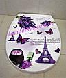 """Сидіння для унітазу з малюнком """"Paris"""" Elif Plastik, Туреччина 372-7, фото 3"""