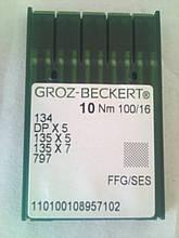 Голки для промислових швейних машин DPx5 № 100 FFG/SES Groz-Beckert (Німеччина)