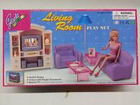 """Набор мебели Gloria,кукольный набор """"гостиная"""", мебель для куклы, кукольная мебель, мебель комната принцессы"""
