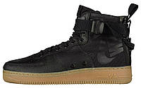 Мужские кроссовки Nike Special Field Air Force 1 Mid Black/Black/Gum Light Brown