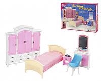 Набор мебели Gloria,набор спальня, мебель для куклы, кукольная мебель, мебель комната принцессы