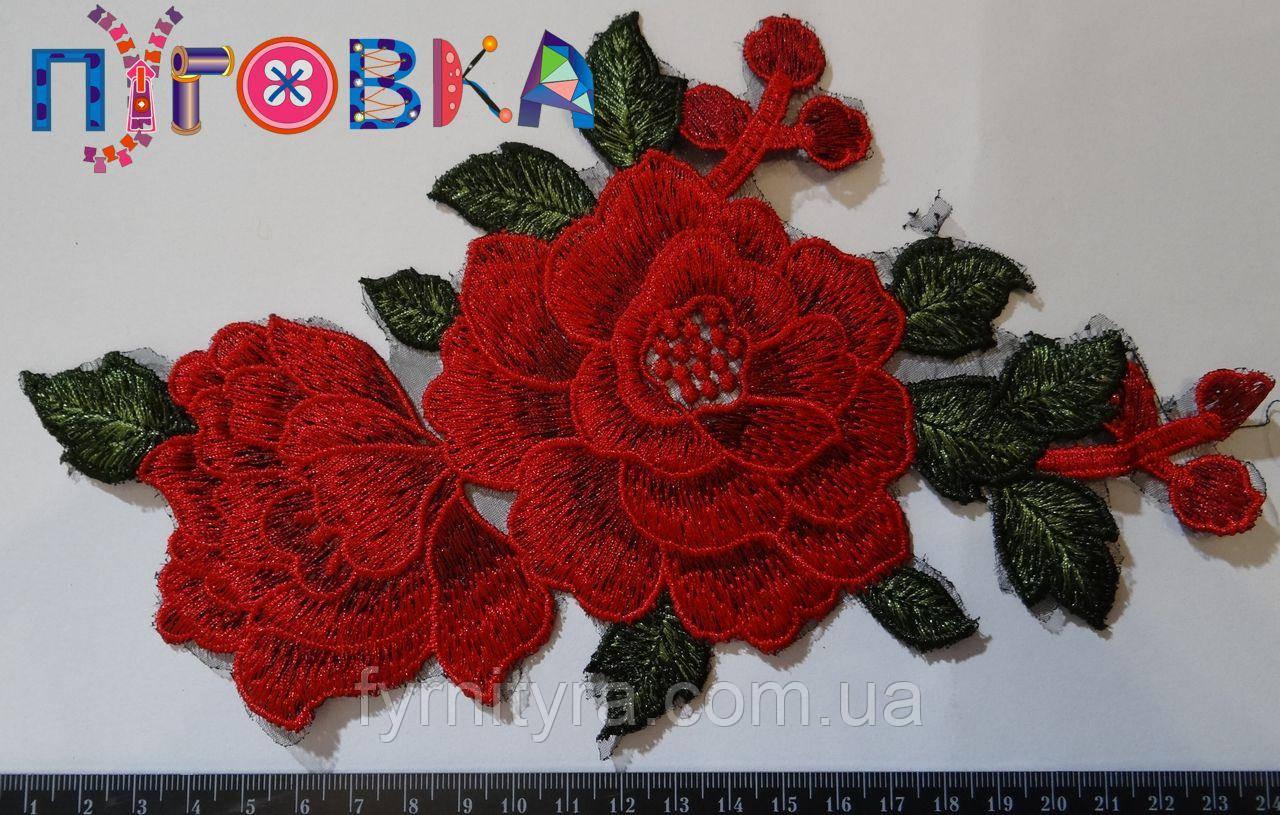 Аппликация термоклеевая 3D цветок 1511