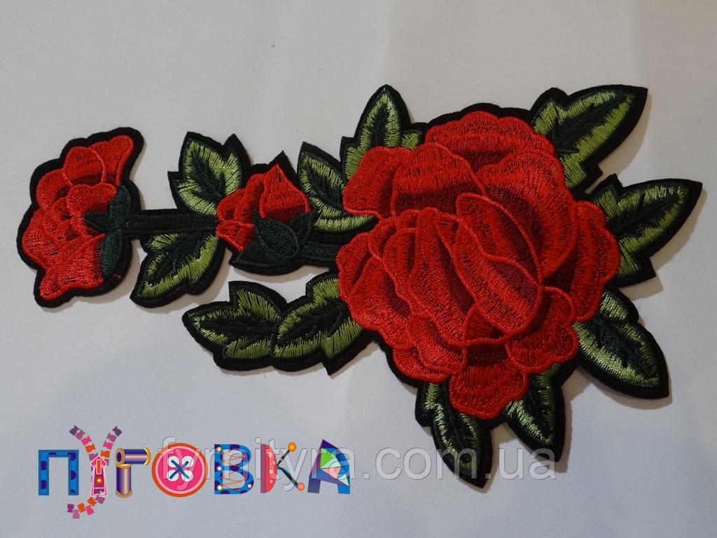 Аппликация термоклеевая цветок 1329