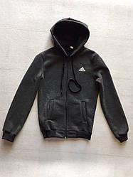 Детская спортивная кофта для мальчика на флисе Adidas (12 - 15 лет) купить оптом в Украине