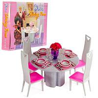 Набор мебели Gloria,набор столовая, мебель для куклы, кукольная мебель