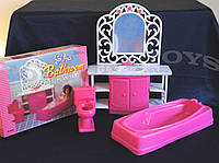 Набор мебели Gloria, набор ванная, мебель для куклы, кукольная мебель
