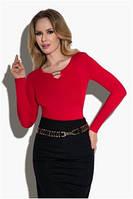 Блузка, кофточка женская черная красная с длинным рукавом Eldar Marta офисная деловая одежда