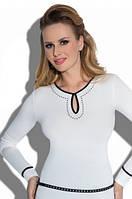 Блузка, кофточка женская черная с длинным рукавом Eldar Milena офисная деловая одежда