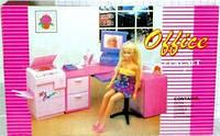 Набор мебели Gloria, набор офис,мебель для куклы, кукольная мебель