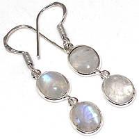Серьги с лунным камнем. Серьги с натуральным лунным камнем (адуляр) в серебре.