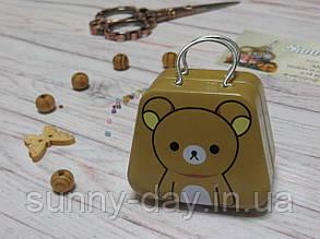 Коробочка для мелочей (игольница) - чемоданчик, принт №3