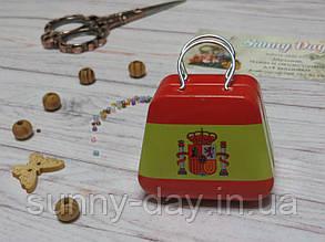 Коробочка для мелочей (игольница) - чемоданчик, принт №4