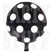 Фольгированный шар Полька черный, 44 см