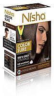 Безаммиачная стойкая крем-краска для волос TM Nisha с маслом авокадо Шоколадно-коричневая №3,5