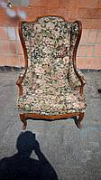 Мягкое итальянское кресло для отдыха в стиле барокко. Мебель б\у из Италии.