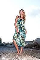 Пляжный длинный сарафан Amarea 114-16 One Size Зеленый