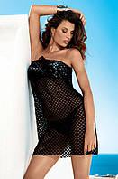 Черное пляжное платье мини из гипюра Amarea 17026 42(S) Черный Amarea 17026