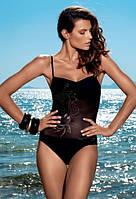 Совместный купальник с сеткой на животе Amarea 17146 44 Черный