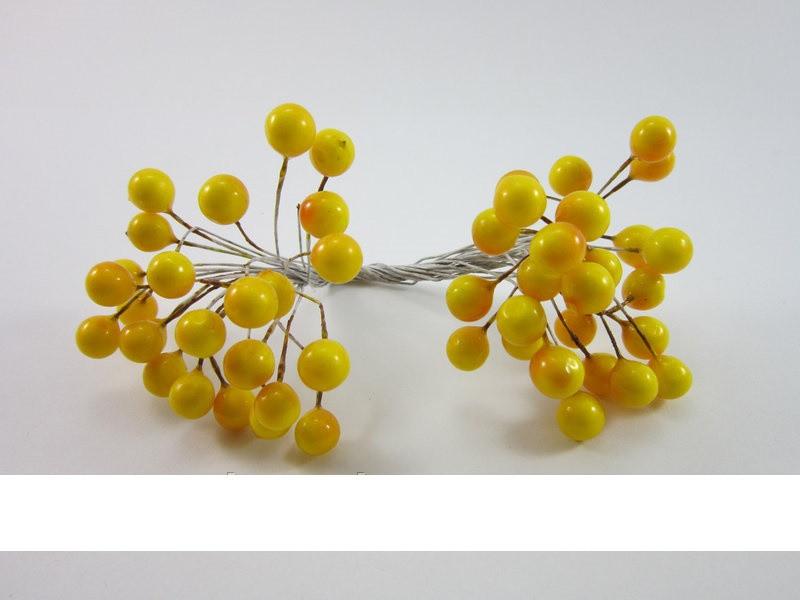 Рябинка в лаке (желтый)