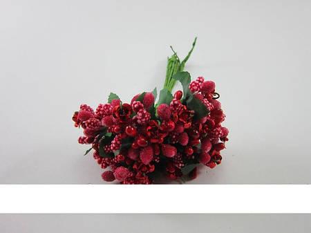 Тычинка с розочкой (красный)