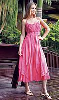 Длинный розовый пляжный сарафан Iconique KF 5161 R 42(S) Розовый Iconique KF 5161 R