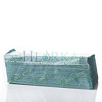 Полотенца листовые V-укладка, зеленые, однослойные, 170лист., 25шт./ящ. Размер лист.: 25x23см (О-708)