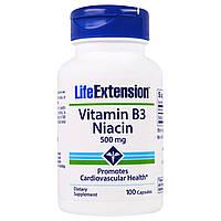 Life Extension, Витамин B3 Ниацин, 500 мг, 100 капсул  Life Extension, Витамин B3 Ниацин, 500 мг, 100 капсул