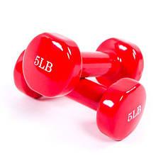 Гантели для фитнеса 5LB (2270 грам) виниловое покрытие