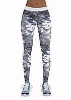 Лосины для фитнеса женские Code TM Bas Bleu (Польша) Цвет белый + серый