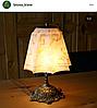 Старинная настольная лампа Югентштиль
