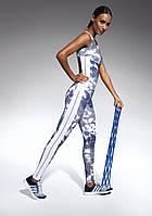 Лосины для фитнеса женские Code TM Bas Bleu (Польша) Цвет белый + синий