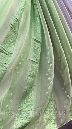 Тюль органза зеленая опт, фото 2