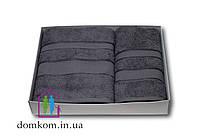 Набор полотенец серый